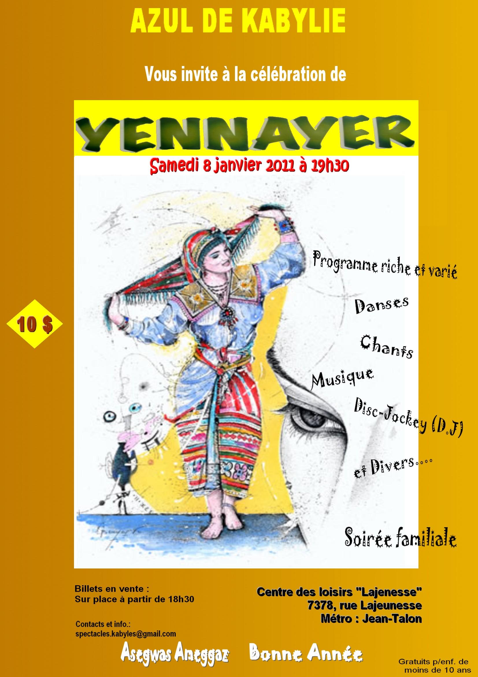 yennayer an amazigh montreal Amazigh Net :  Yennayer à Montreal
