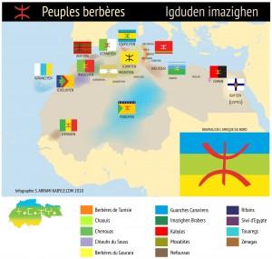 Tamazgha :  carte du peuple berbère