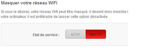 masquer reseau wifi