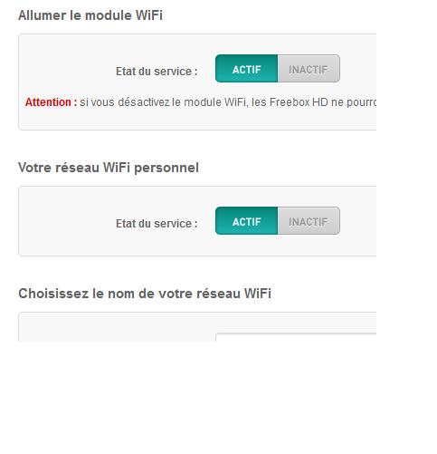 module wifi reseau freebox