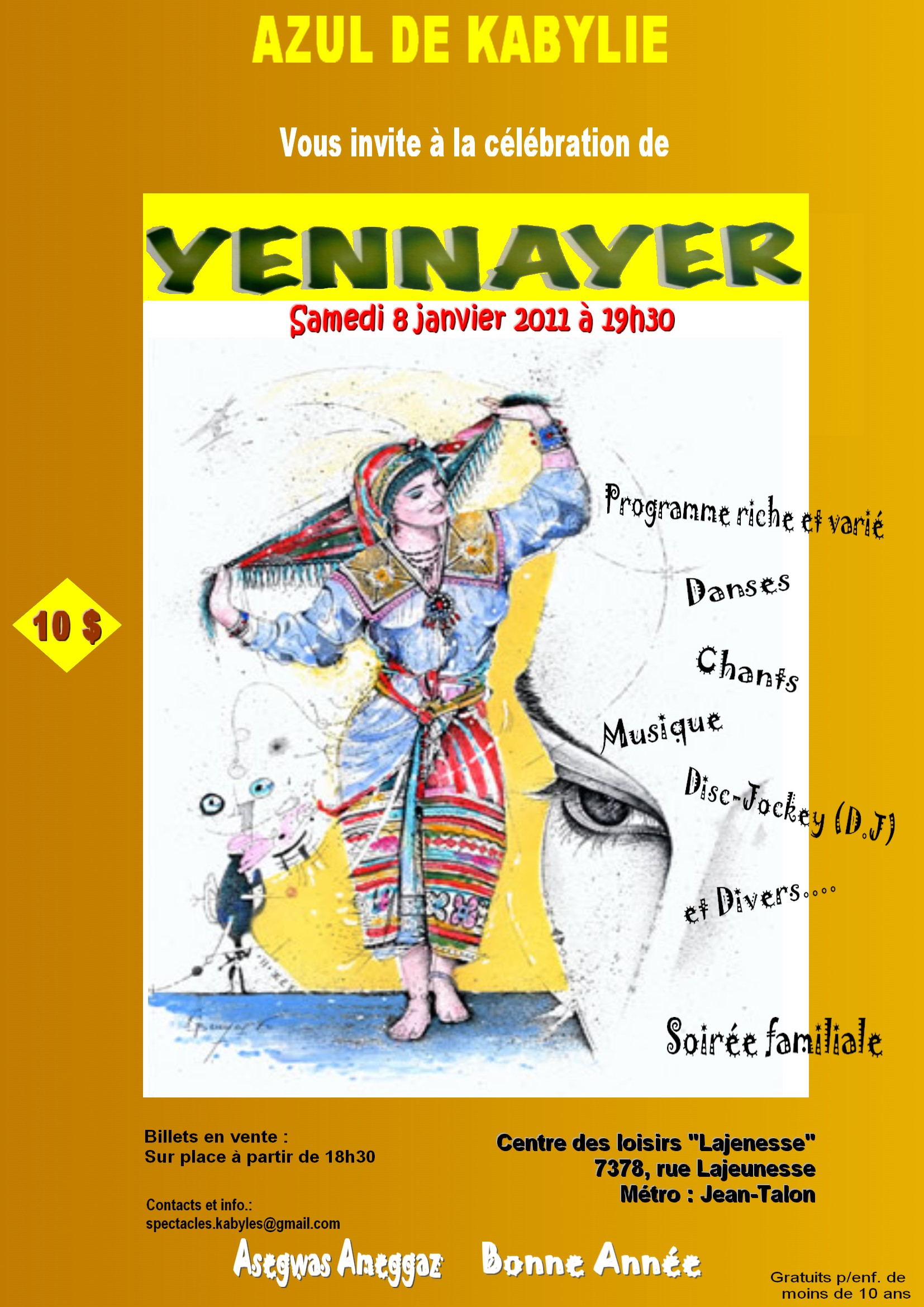 Amazigh Net :  Yennayer à Montreal