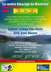 Amazigh : Yennayer à Montreal
